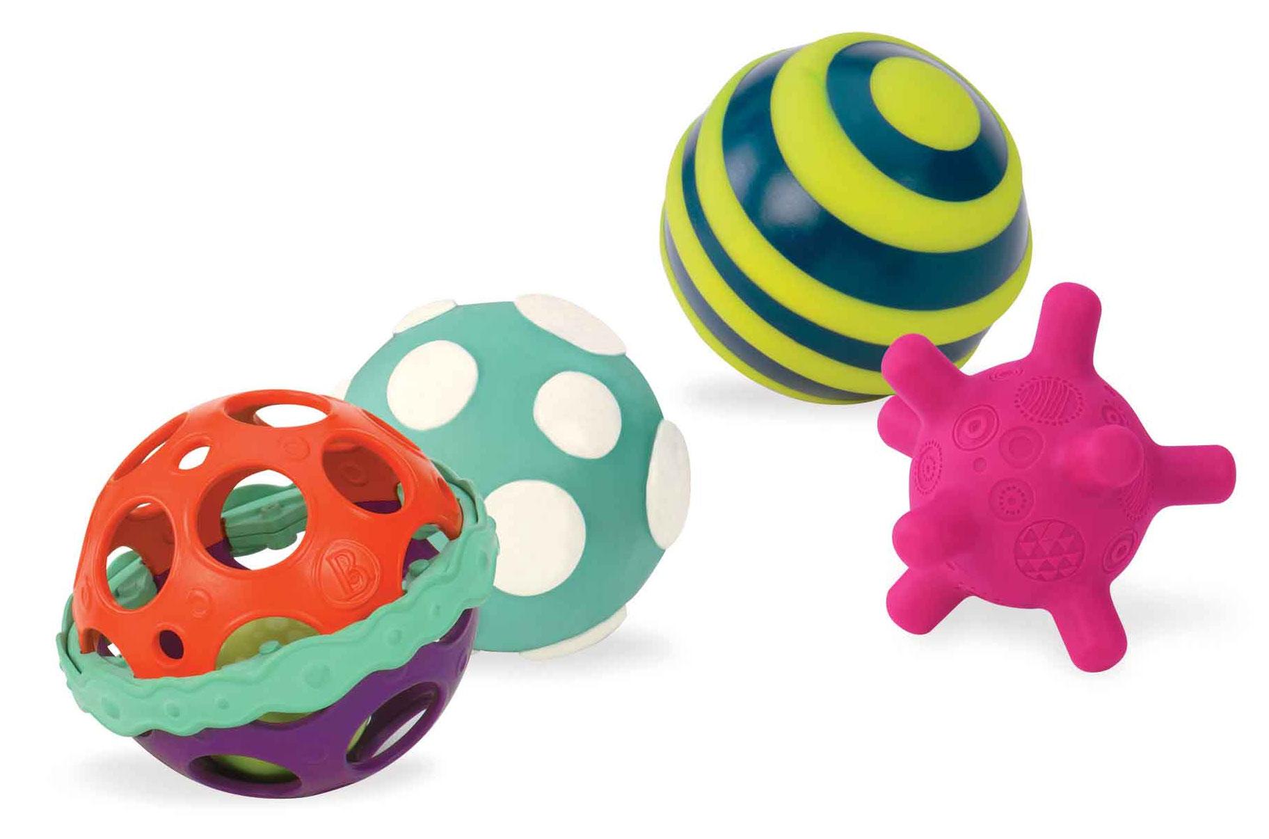 Juego Pelotas Sensoriales Y Sonoras método Montessori