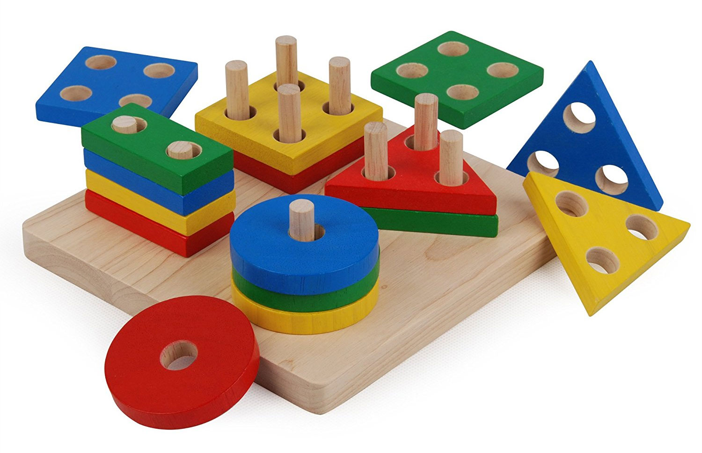Juego Clasificador Formas Geométricas método Montessori