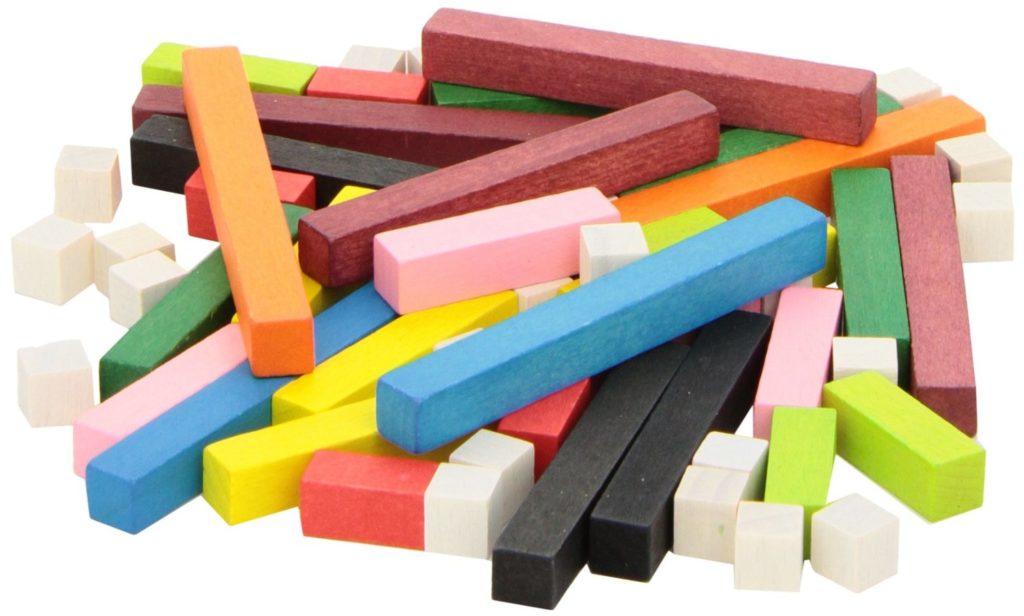 Juego Regletas sistema decimal método Montessori