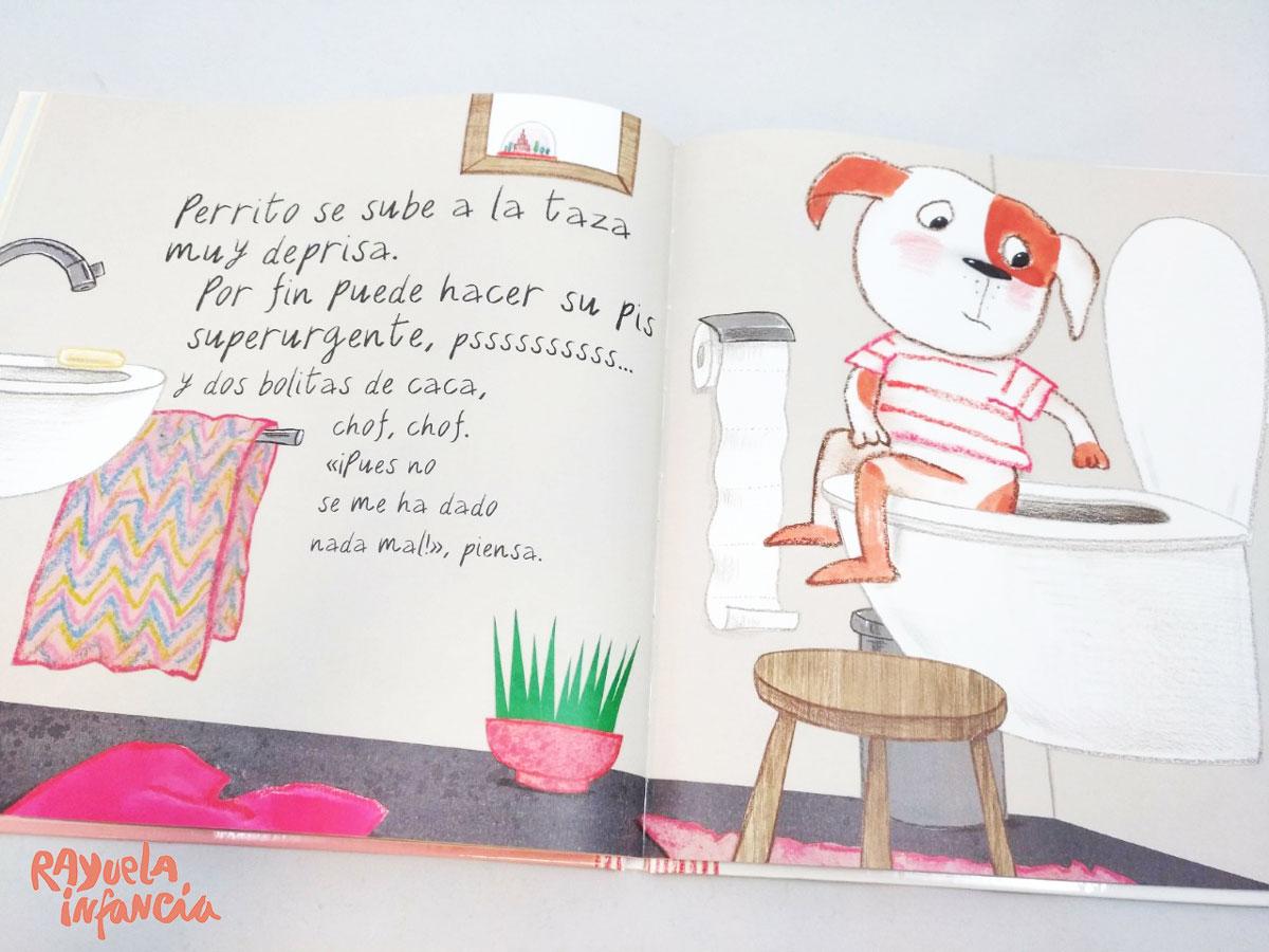 PERRITO TIENE MUCHA PRISA LIBRO PARA DEJAR EL PAÑAL