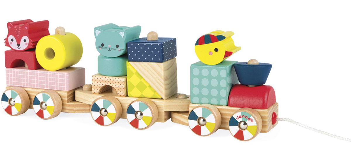 TREN DE MADERA TRAIN FOREST JANOD REGALOS ESPECIALES PARA BEBES