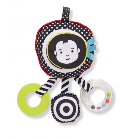 SONAJERO BLANCO Y NEGRO Sight and Sound Travel Toy Wimmer Ferguson