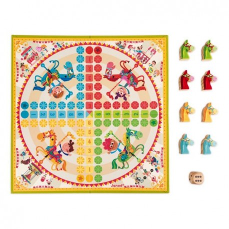 PARCHIS PEQUENOS CABALLOS Janod Petits Chevaux Tablero