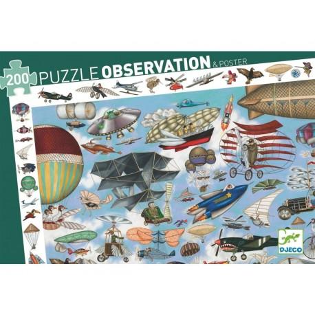 PUZZLE OBSERVACION AERO CLUB 200 Piezas Djeco Ilustracion