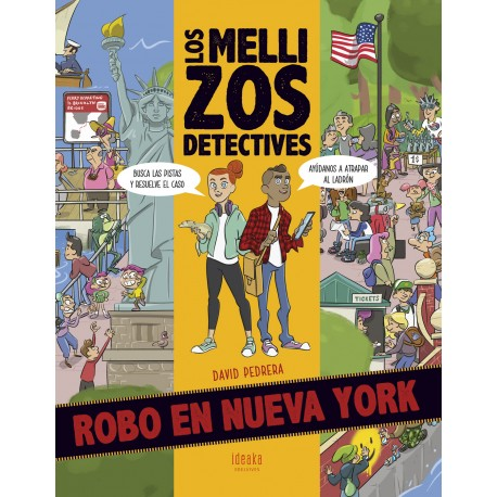 Los Mellizos Detectives. Robo en Nueva York. Edelvives Ideaka