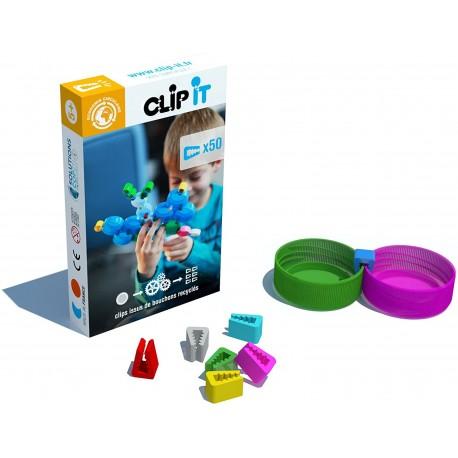 CLIP IT 50 CLIPS Construccion con tapones