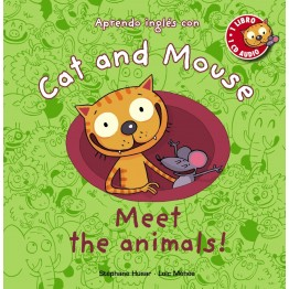 CAT AND MOUSE, MEET THE ANIMALS!  CON CD