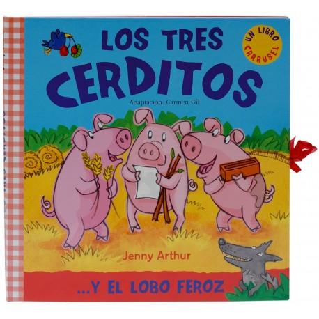 LOS TRES CERDITOS LIBRO CARRUSEL Combel Libro con Escenario