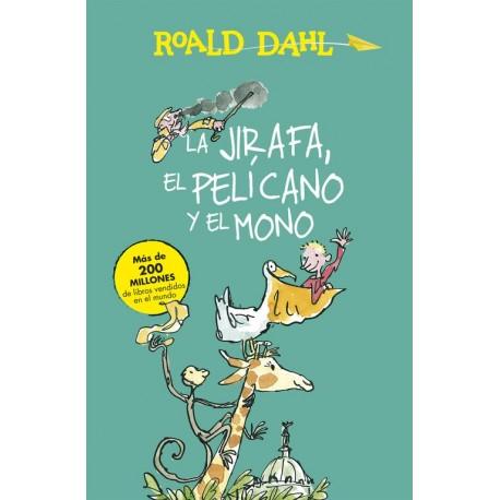LA JIRAFA EL PELICANO Y EL MONO Roald Dahl Portada Libro