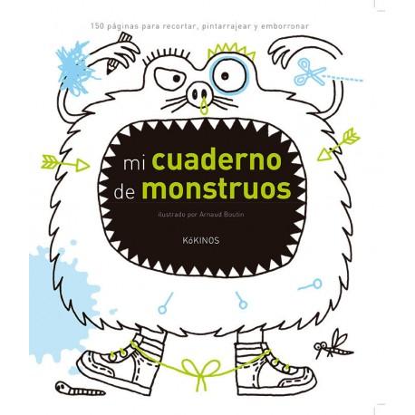 MI CUADERNOS DE MONSTRUOS Pintar y Recortar Kokinos Portada Libro