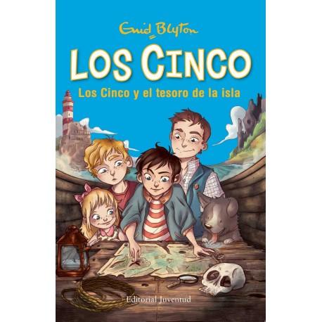 LOS CINCO Y EL TESORO DE LA ISLA Juventud Portada Libro
