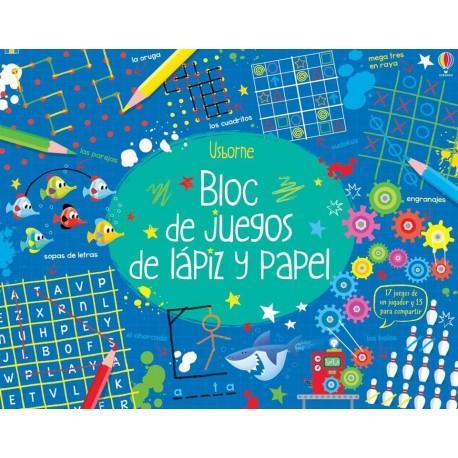 BLOC DE JUEGOS DE LAPIZ Y PAPEL USBORNE