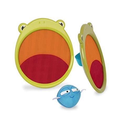 PALAS ATRAPABOLAS RANAS b.happy Juegos de Motricidad critter catchers frankie the frog  detalle