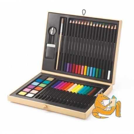 CAJA DE COLORES djeco boite de couleurs 47 pieces