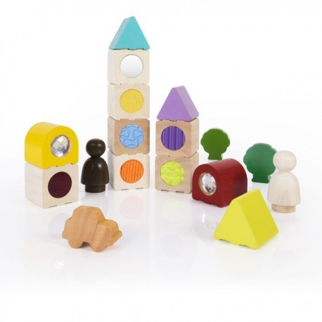 BLOQUES SENSORIALES DE MADERA Sensory Stacking Blocks Guide Craft