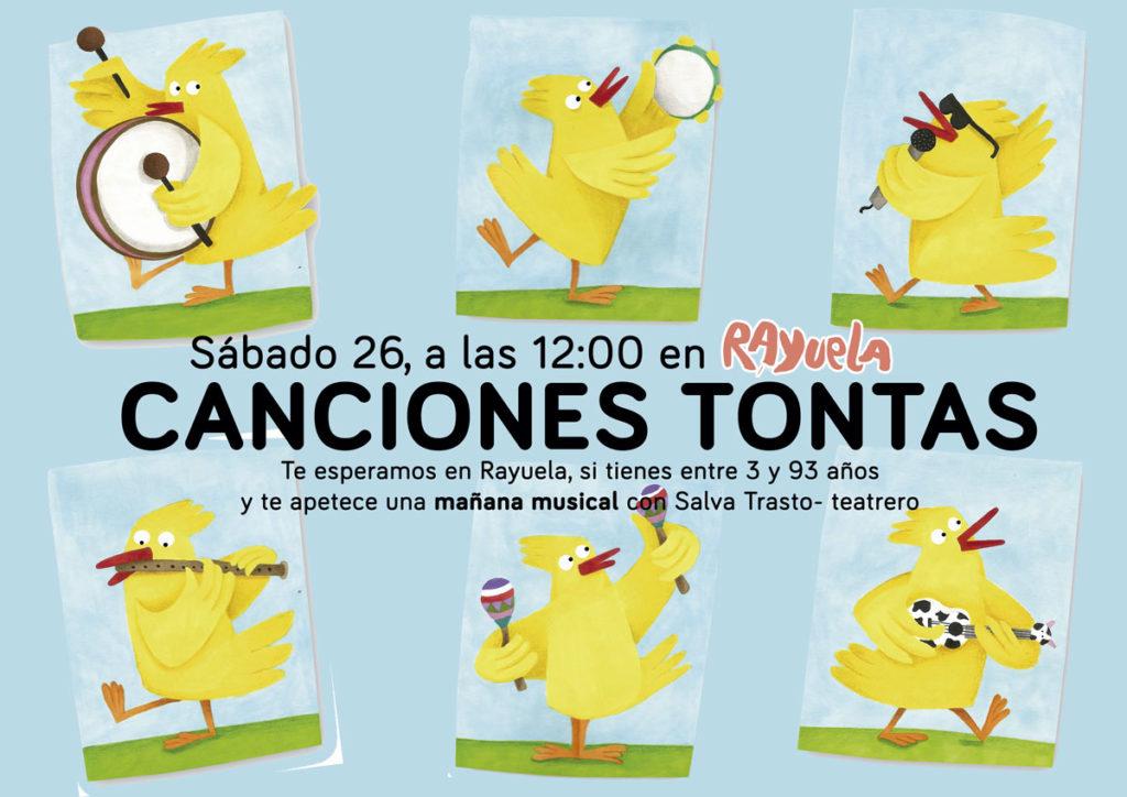 Canciones tontas Actividad para niños en Rayuela el sábado 26 de octubre