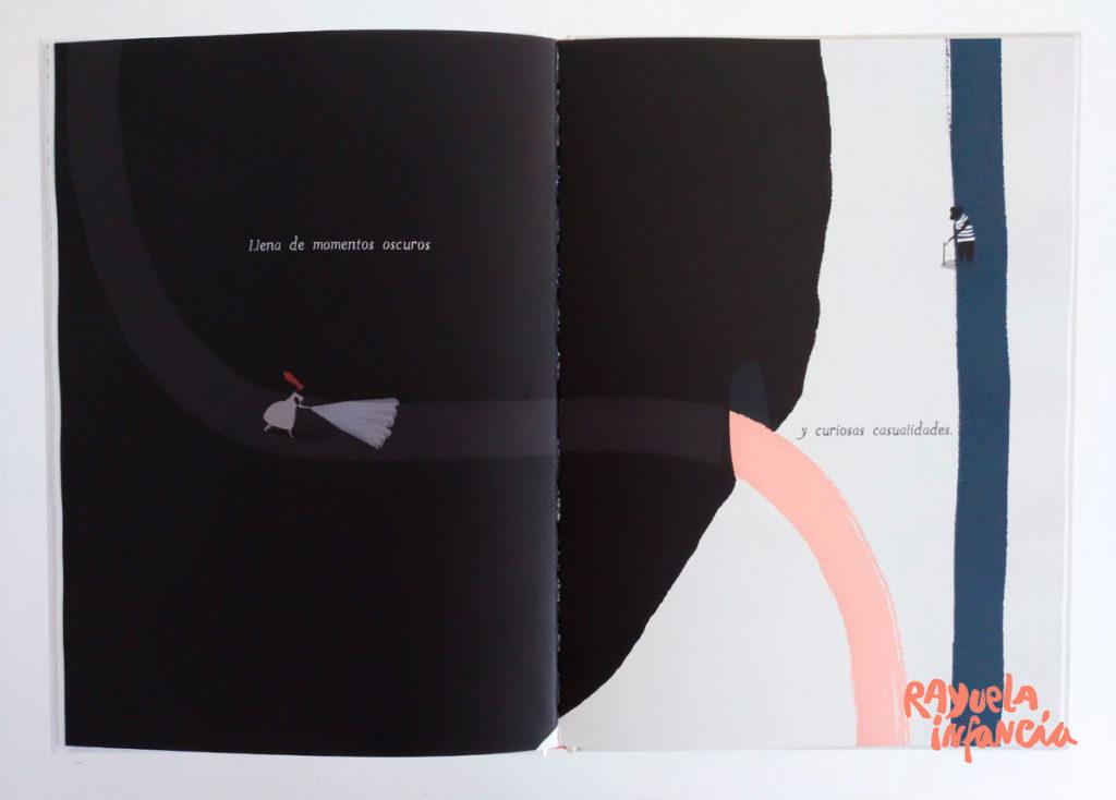 """Ilustración de Guridi, del álbum ilustrado """"Dos caminos"""""""