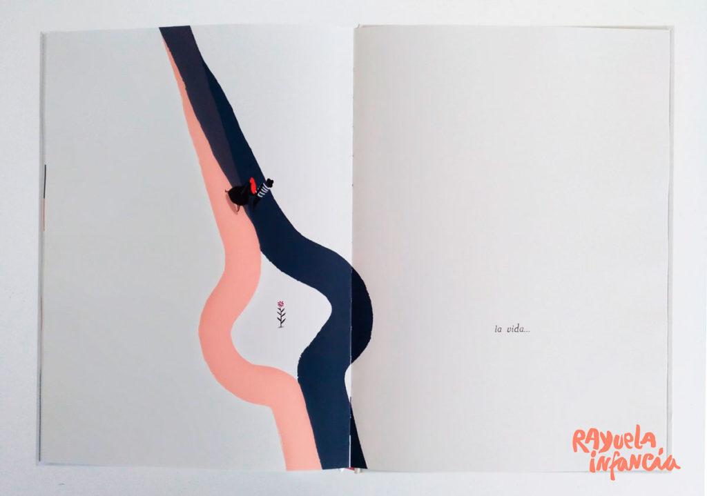 """Ilustración de """"Dos caminos"""", un álbuj ilustrado de Libre Albedrío"""