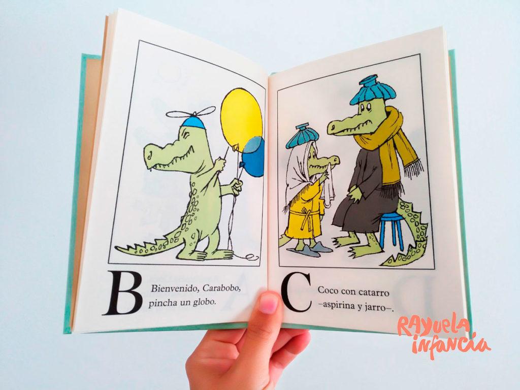 Lluvia de cocodrilos, un libro sobre el alfabeto, de Sendak y Gloria Fuertes. Libros para iniciar la lectoescritura.