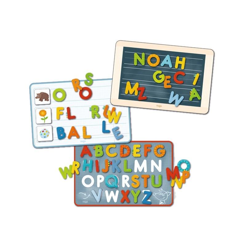 Maletín magnético aprendo las letras de HABA. Iniciar la lectoescritura