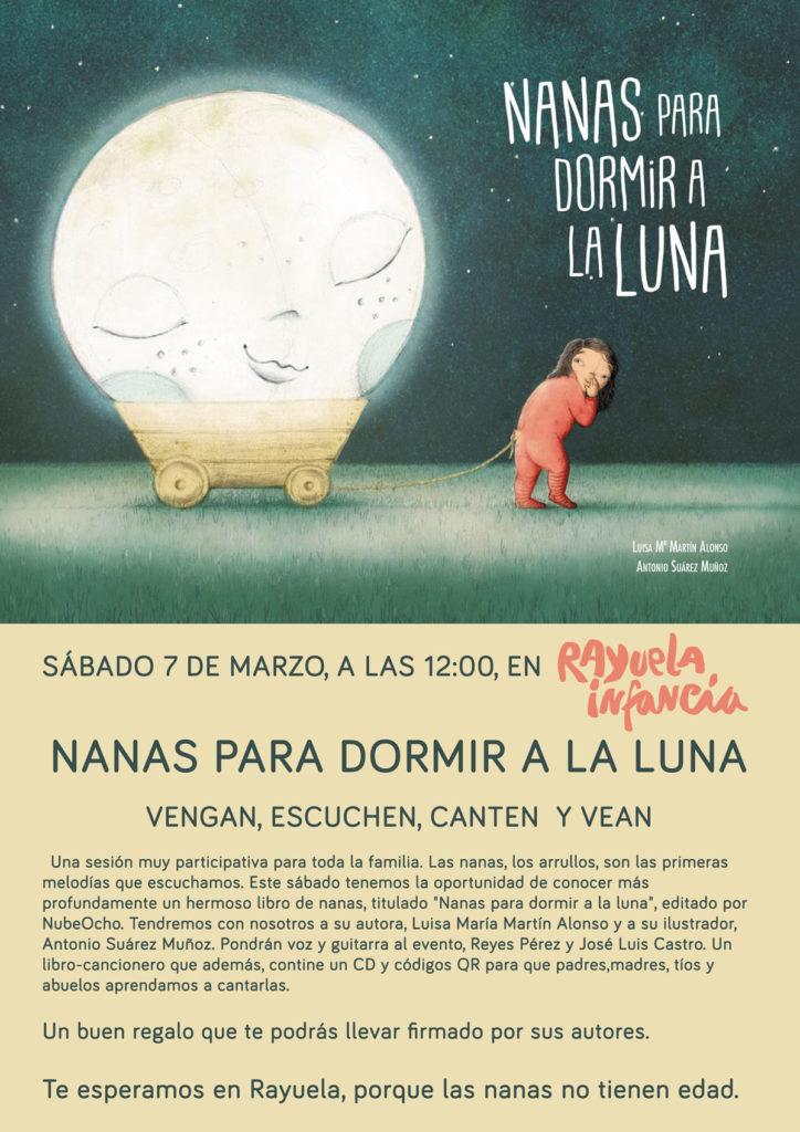Presentación en Rayuela del libro Nanas para dormir a la luna